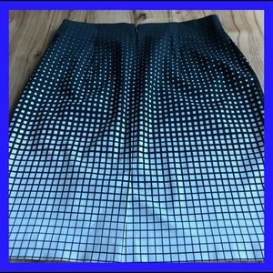 Worthiness black & white polka dot skirt.  14W.